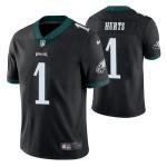 Nike Eagles #1 Jalen Hurts Black Men's Stitched NFL Vapor Untouchable Limited Jersey