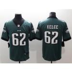Philadelphia Eagles #62 Jason Kelce Green Vapor Limited Jersey