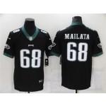 Philadelphia Eagles #68 Jordan Mailata Black Vapor Limited Jersey