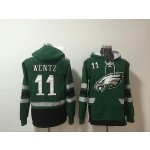 NFL Philadelphia Eagles #11 Carson Wentz Green All Stitched Hooded Sweatshirt