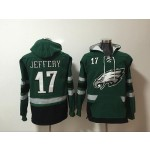 NFL Philadelphia Eagles #17 Alshon Jeffery Green All Stitched Hooded Sweatshirt