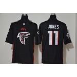 NFL Falcons #11 Julio Jones black Team Big Logo Vapor Untouchable Limited Jersey