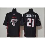 NFL Falcons #21 Todd Gurley II black Team Big Logo Vapor Untouchable Limited Jersey