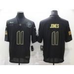 Nike Falcons #11 Julio Jones Black 2020 Salute To Service Limited Jersey
