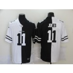 Nike Falcons #11 Julio Jones Black And White Split Vapor Untouchable Limited Jersey