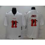 Nike Falcons #11 Julio Jones White Shadow Logo Limited Jersey