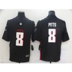 Men's Atlanta Falcons #8 Kyle Pitts Black 2021 NFL Draft Vapor Limited Jersey