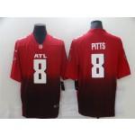 Men's Atlanta Falcons #8 Kyle Pitts Red 2021 NFL Draft Vapor Limited Jersey