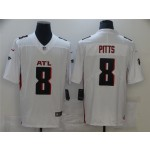 Men's Atlanta Falcons #8 Kyle Pitts White 2021 NFL Draft Vapor Limited Jersey