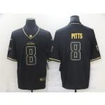 Atlanta Falcons #8 Kyle Pitts Black Gold Vapor Limited Jersey