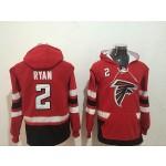 NFL Atlanta Falcons #2 Matt Ryan Red All Stitched Hooded Sweatshirt