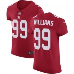 Men's New York Giants #99 Leonard Williams Red Stitched Vapor Limited Jersey
