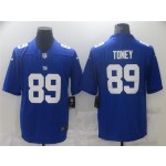 New York Giants #89 Kadarius Toney Blue Vapor Limited Jersey