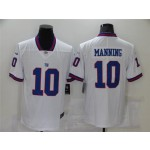 New York Giants #10 Eli Manning White Color Rush Limited Jersey