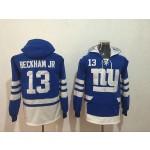 NFL New York Giants #13 Odell Beckham Jr. Blue All Stitched Hooded Sweatshirt
