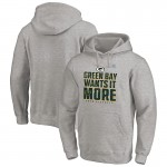 Fanatics Branded Green Bay Packers Heather Gray 2020 NFL Playoffs Bound Shift Pullover Hoodies