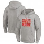 Fanatics Branded Kansas City Chiefs Heather Gray 2020 NFL Playoffs Bound Shift Pullover Hoodies
