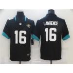 Men's Jacksonville Jaguars #16 Trevor Lawrence Black Vapor Limited Jersey