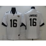 Men's Jacksonville Jaguars #16 Trevor Lawrence White Vapor Limited Jersey
