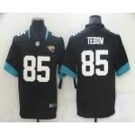 Men's Jacksonville Jaguars #85 Tim Tebow Black 2021 Vapor Untouchable Stitched NFL Nike Limited Jersey