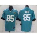 Jacksonville Jaguars #85 Tim Tebow Teal Vapor Limited Jersey