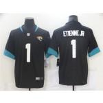 Jacksonville Jaguars #1 Travis Etienne Black Vapor Limited Jersey