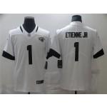 Jacksonville Jaguars #1 Travis Etienne White Vapor Limited Jersey