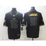 Jacksonville Jaguars #16 Trevor Lawrence Black Gold Vapor Limited Jersey