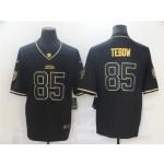 Jacksonville Jaguars #85 Tim Tebow Black Gold Vapor Limited Jersey
