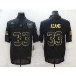 Nike Jets #33 Jamal Adams Black 2020 Salute To Service Limited Jersey