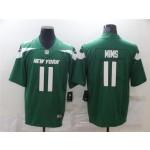 Men's Jets #11 Denzel Mims Green Team Color Stitched NFL Vapor Untouchable Limited Jersey