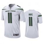 Men's Jets #11 Denzel Mims White Stitched NFL Vapor Untouchable Limited Jersey