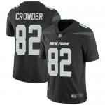 Men's Jets #82 Jamison Crowder Black Alternate Stitched Football Vapor Untouchable Limited Jersey