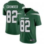 Men's Jets #82 Jamison Crowder Green Team Color Stitched Football Vapor Untouchable Limited Jersey