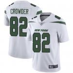 Men's Jets #82 Jamison Crowder White Stitched Football Vapor Untouchable Limited Jersey