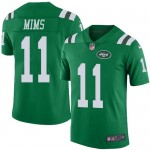 Nike Jets #11 Denzel Mims Green Men's Stitched NFL Limited Rush Jersey