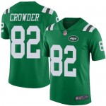 Nike Jets #82 Jamison Crowder Green Men's Stitched Football Limited Rush Jersey