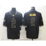 New York Jets #2 Zach Wilson Black Gold Vapor Limited Jersey