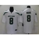 New York Jets #8 Elijah Moore White Vapor Limited Jersey