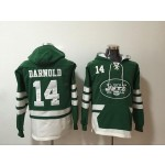 NFL New York Jets #14 Sam Darnold Green All Stitched Hooded Sweatshirt