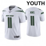 Youth Jets #11 Denzel Mims White Stitched NFL Vapor Untouchable Limited Jersey