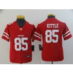NFL Youth San Francisco 49ers George Kittle #85 Red Jersey