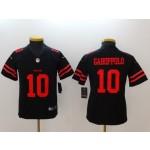 NFL Youth San Francisco 49ers Garoppolo #10 Black Jersey