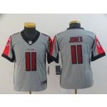 NFL Youth Falcons Julio Jones #11 Grey Inverted Legend Jersey