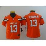 NFL Youth Cleveland Browns Beckham Jr #13 Orange Jersey