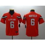 NFL Youth Cleveland Browns Baker Mayfield #6 Orange Jersey
