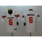 NFL Youth Cleveland Browns Baker Mayfield #6 White Jersey