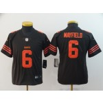 NFL Youth Browns Baker Mayfield #6 brown Rush Limited Jersey