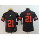 NFL Youth Browns Ward #21 brown Rush Limited Jersey