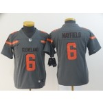 NFL Youth Browns Baker Mayfield #6 Grey Inverted Legend Jersey